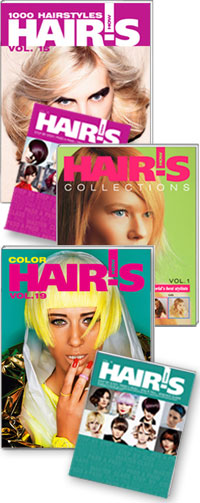 HAIR'S HOW, Vol.19 Color + Vol.15 1000 Hairstyles + Vol.1 Collections