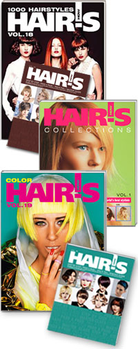 HAIR'S HOW, Vol.19 Color + Vol.18 1000 Hairstyles + Vol.1 Collections
